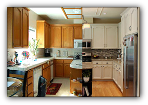 Refinishin kitchen cabinets